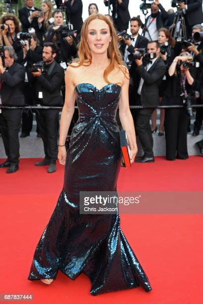 Leonor Serraille attends the 'The Beguiled' screening during the 70th annual Cannes Film Festival at Palais des Festivals on May 24 2017 in Cannes...