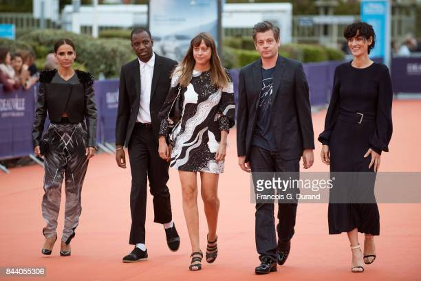 Leonor Varela Abd Al Malik Emmanuelle Bercot Benjamin Biolay and Clotild Hesme arrive at the screening of the movie 'The Zookeepr's Wife' during the...