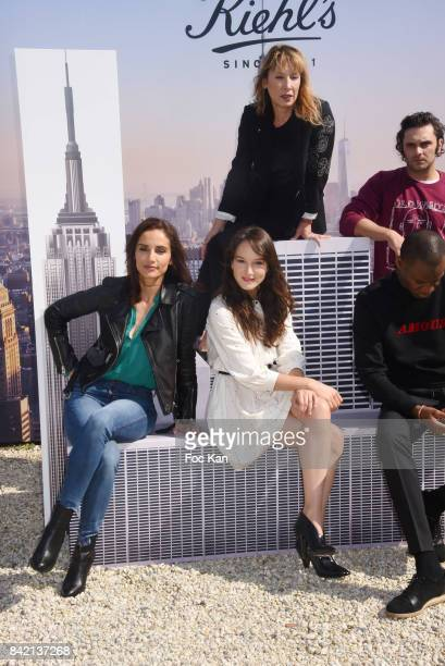 Leonor Varela Anais Demoustier Emmanuelle Bercot Abd Ali Malik and Pio Marmai pose at the Revelations Jury photocall during the 43rd Deauville...