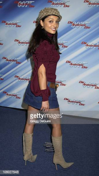 Leonor Varela during 'Die Another Day' Los Angeles Premiere at Shrine Auditorium in Los Angeles California United States