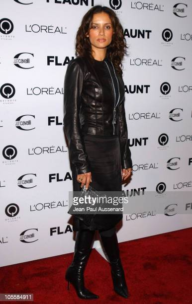 Leonor Varela during Just Cavalli Hosts Flaunt Magazine's 6Year Anniversary Party Arrivals at Private Residence in Los Angeles California United...