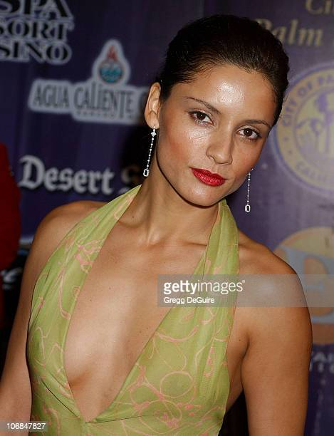 Leonor Varela during Palm Springs International Film Festival Awards Gala presented by Tiffany Co Arrivals at Palm Springs Convention Center in Palm...