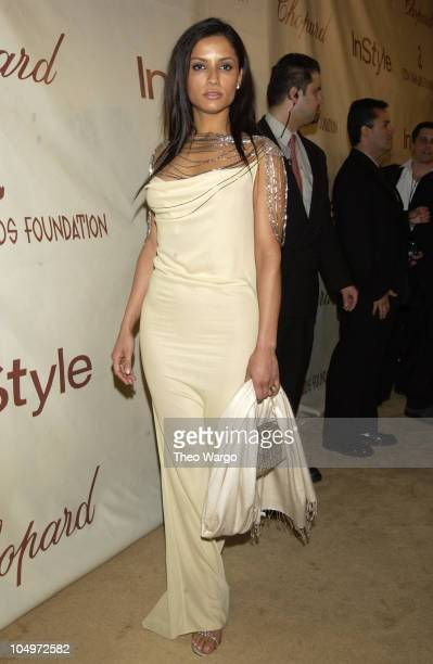 Leonor Varela during The 10th Annual Elton John AIDS Foundation InStyle Party Arrivals at Moomba Restaurant in Hollywood California United States