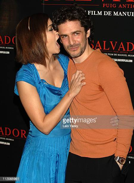 Leonor Watling and Leonardo Sbaraglia during Salvador Photocall in Madrid at Hesperia Hotel in Madrid Spain