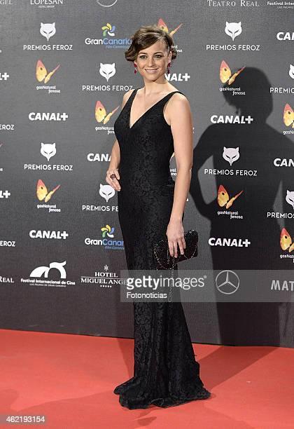 Leonor Watling attends the 2015 'Feroz' Cinema Awards at Gran Teatro Ruedo Las Ventas on January 25, 2015 in Madrid, Spain.