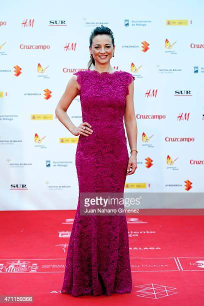 Leonor Watling attends the 'Solo Quimica' premiere during the 18th Malaga Spanish Film Festival at the Cervantes Theater on April 25 2015 in Malaga...