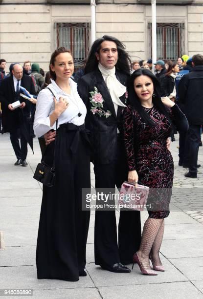 Leonor Watling Mario Vaquerizo and Olvido Gara aka Alaska attend the event where Pedro Almodovar and Raphael are declared Adoptive Son of Madrid at...