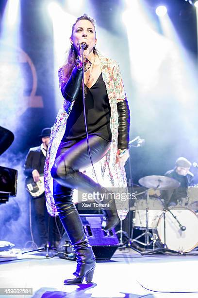 Leonor Watling of Marlango performs in concert at Sala Barts on November 27 2014 in Barcelona Spain