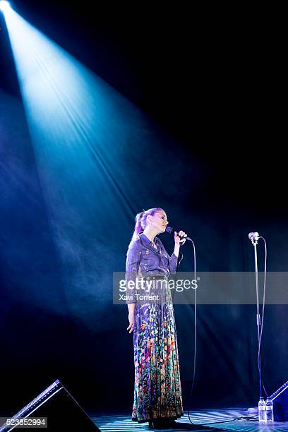 Leonor Watling of Marlango performs in concert at sala Barts on April 24 2016 in Barcelona Spain