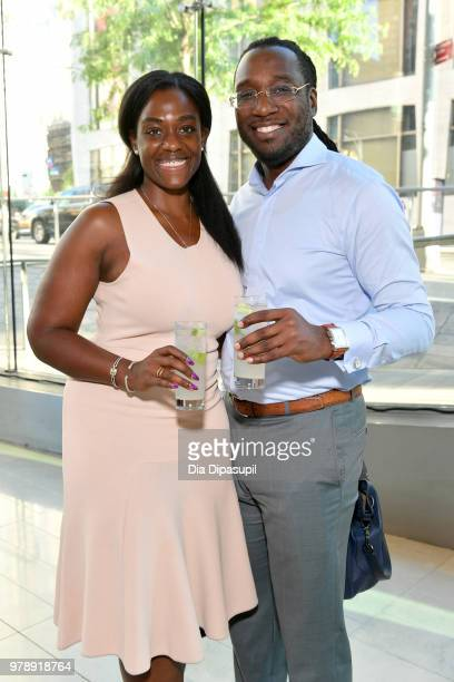 Leonor Wignall and Jamar Young attend Lincoln Center Corporate Fund's Stand Up Sing for the Arts at Alice Tully Hall on June 19 2018 in New York City
