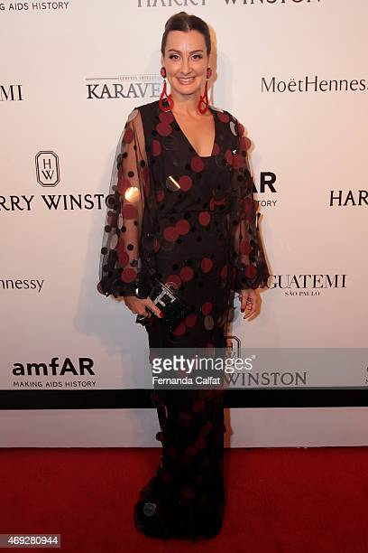 Leonora Chando attends the 5th Annual amfAR Inspiration Gala at the home of Dinho Diniz on April 10 2015 in Sao Paulo Brazil