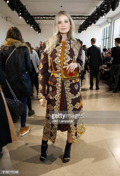 Leonora Jimenez attends Leanne Marshall show during February 2018 New York Fashion Week The Shows at Gallery II at Spring Studios on February 14 2018...