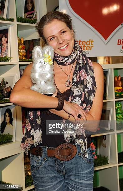 Leonore Capell attends Easter Bunny Charity Auction at Billstedt Shopping Centre on April 3 2012 in Hamburg Germany