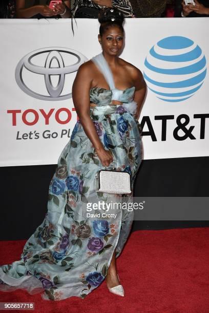 Leontine Abdullah attends the 49th NAACP Image Awards Arrivals at Pasadena Civic Auditorium on January 15 2018 in Pasadena California