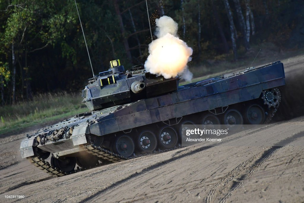 A Leopard 2A7 tank of the Bundeswehr, the German armed
