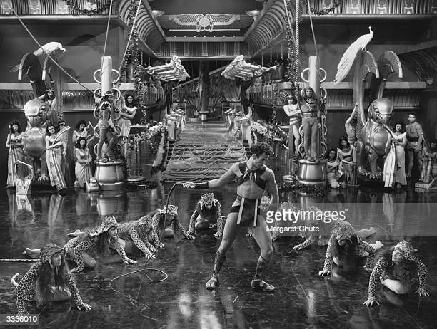 A leopard dance scene from Cecil DeMille's 'Cleopatra' a Paramount pictures production