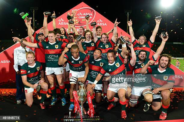 Leopards celebrate after winning the Absa Currie Cup Division 1 final match between Leopards and SWD Eagles at Profert Olen Park on October 08 2015...