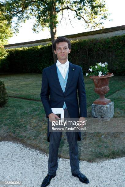 Leopold Gaubert attends Wedding of Helene de Yougoslavia and Stanislas Fougeron at Chateau de Villeprevost on September 15 2018 in Tillay le Peneux...