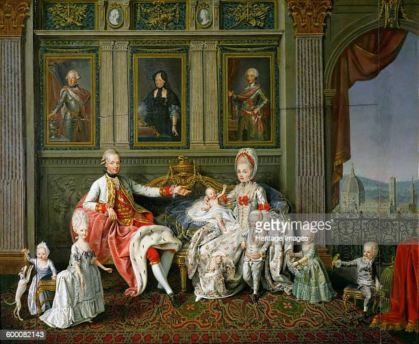 Leopold I Grand Duke of Tuscany with his wife Maria Luisa and their children 1773 Found in the collection of Ambras Castle Innsbruck Artist Werlin...