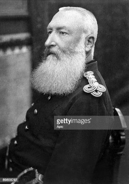 Leopold II king of the Belgians King in 1865 when his father LeopoldI died c 1900 Felix Potin collection