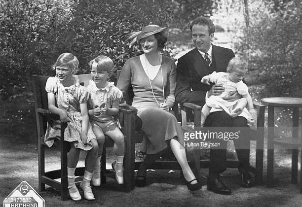 Leopold III king of the Belgians with his wife Queen Astrid and their three children
