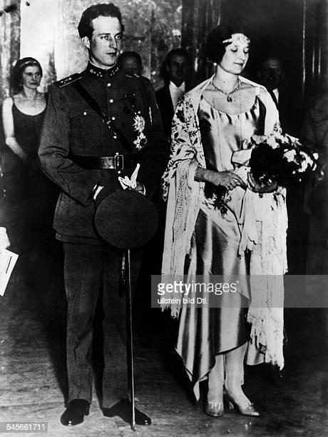 Leopold III von Belgien *Koenig von 19341951 mit Koenigin Astrid 1934