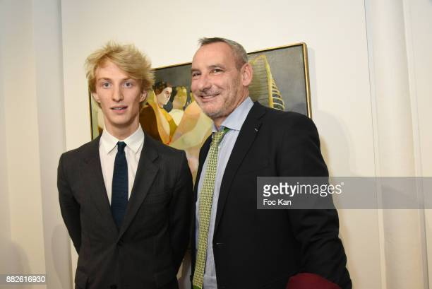Leopold Legros fromT LGalerie and Olivier Simmat from Sponsorship and International relationship at Musee d'Orsay attend the Tribute to Leonardo...