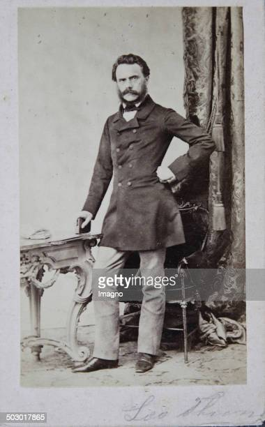 Leopold [Leo] Graf von Thun und Hohenstein Austrian politician and author and member of the Austrian mansion About 1859 Photograph by Ludwig Angerer...