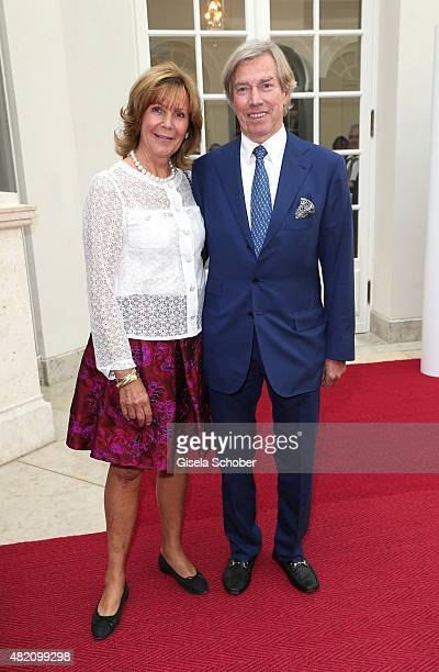 Leopold Poldi of Bavaria and his wife Princess Ursula of Bavaria during the 'Die Goldene Deutschland' Gala on July 26 2015 at Cuvillies Theater in...