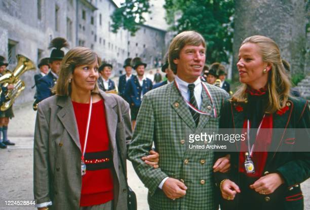 Leopold Poldi Prince of Bavaria at a brunch on Hohensalzburg fortress Austria 1986