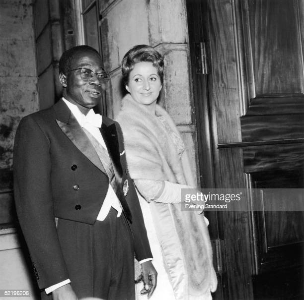 Leopold Sedar Senghor , President of Senegal, with his French wife Colette, 25th October 1961.
