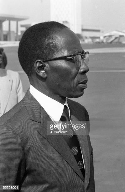 Leopold Sedar Senghor, statesman and Senegalese writer. Dakar , summit of the African States, on 1978. JAC-1498-06.