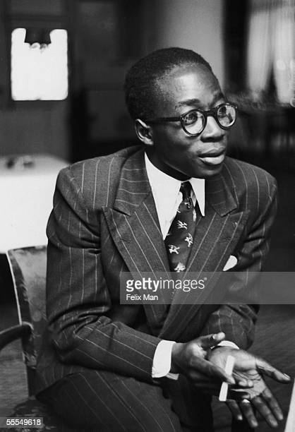 Leopold Sedar Senghor , the French Senagalese delegate to the Council of Europe Assembly at Strasbourg University, August 1949. Senghor became the...