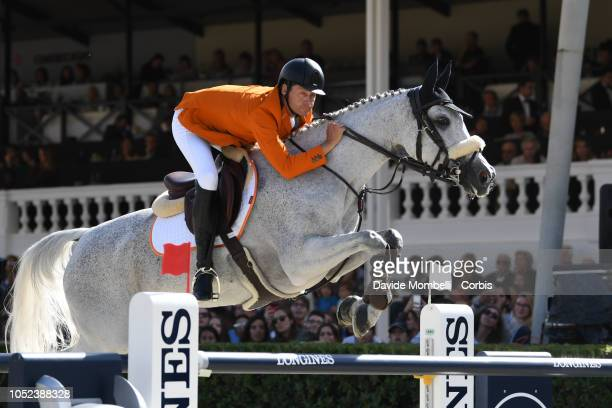 Leopold Van Asten for Netherlands riding VDL Groep Beauty during Longines FEI Jumping Nations Cup Final Competition on October 7 2018 in Barcelona...