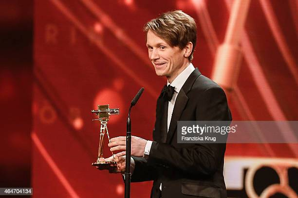 Leopold von BuelowQuirk accepts the award on behalf of his grandfather Vicco von Buelow during the Goldene Kamera 2015 show on February 27 2015 in...