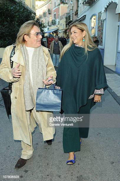 Leopoldo Mastelloni and Romina Power attends the third day of the 15th Annual Capri Hollywood International Film Festival on December 29 2010 in...