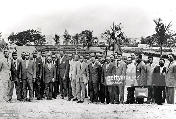 Leopoldville Zaire 30th June 1960 The new Zaire Government led by the new Prime Minister M Patrice Lumumba pose for their first photograph together...