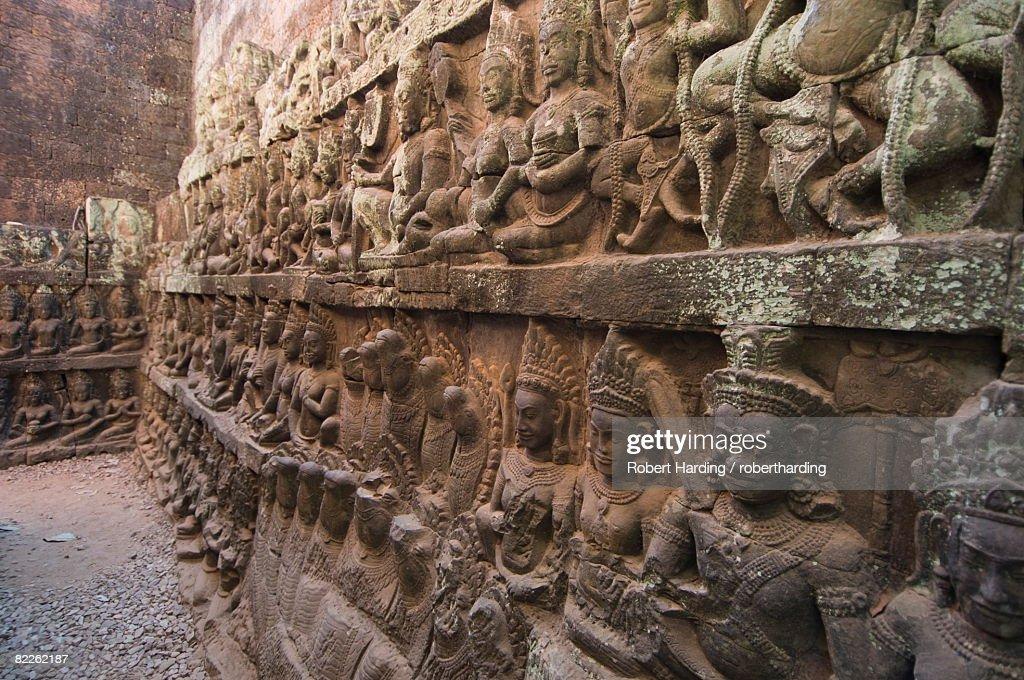 Leper King Terrace, Angkor Thom, Angkor, UNESCO World Heritage Site, Siem Reap, Cambodia, Indochina, Southeast Asia, Asia : Stock Photo