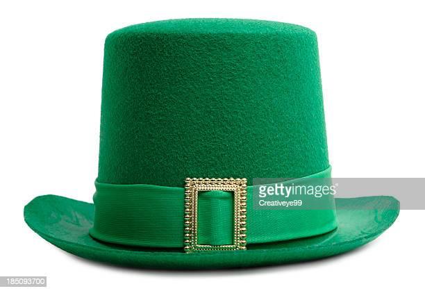 sombrero de duende irlandés - sombrero fotografías e imágenes de stock