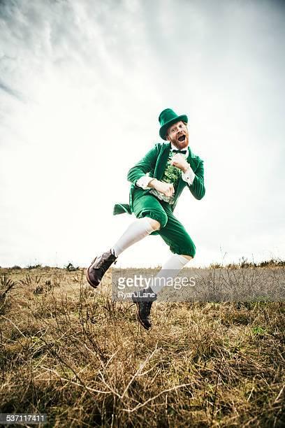 Leprechaun Man Dancing on St. Patricks Day