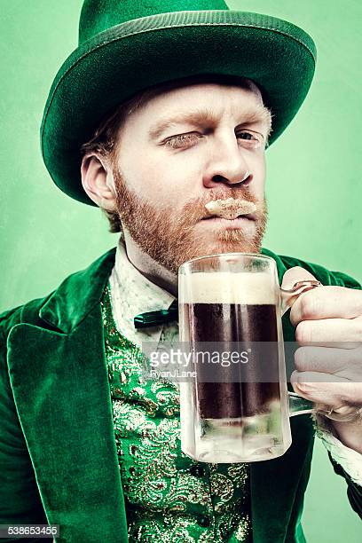 Leprechaun Man with Beer Mustache