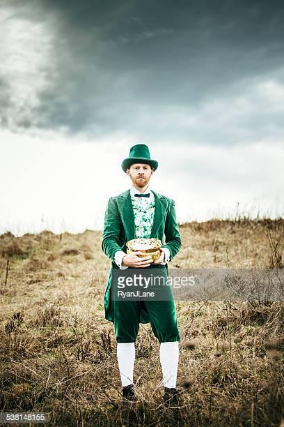 Leprechaun Man with Pot of Gold