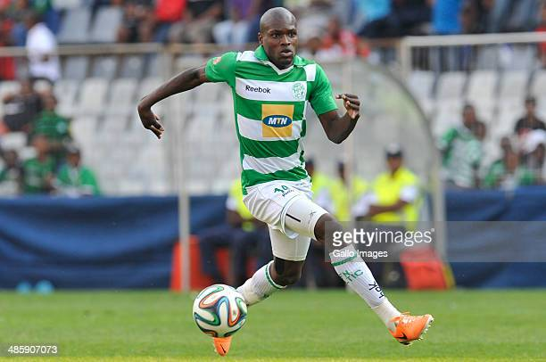 Lerato Lamola of Celtics in action during the Absa Premiership match between Bloemfontein Celtic and Orlando Pirates at Free State Stadium on April...