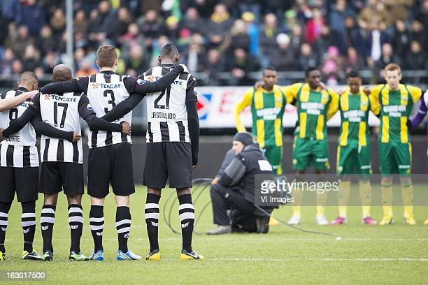 Lerin Duarte of Heracles Almelo Kwame Quansah of Heracles Almelo Bart Schenkeveld of Heracles Almelo Geoffrey Castillion of Heracles Almelo Theo Bos...