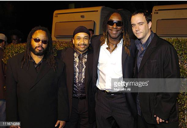 LeRoi Moore Carter Beauford Boyd Tinsley and Dave Matthews of the Dave Matthews Band winners of the Chairman's Award at the 2004 NAACP Image Awards