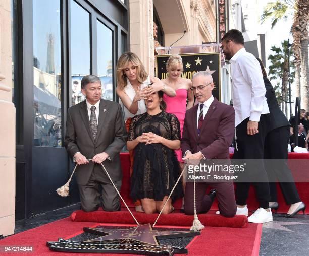 Leron Gubler Eva Longoria Mitch O'Farrell Felicity Huffman Anna Faris and Ricky Martin attend a ceremony honoring Eva Longoria with the 2634th Star...