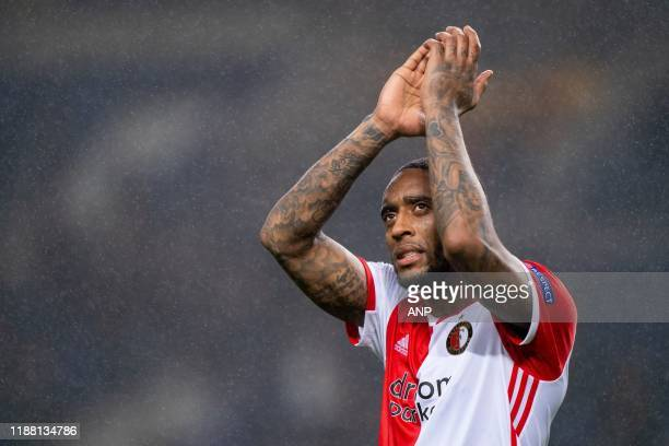 Leroy Fer of Feyenoord during the UEFA Europa League group G match between FC Porto and Feyenoord Rotterdam at Estadio Dragao on December 12, 2019 in...