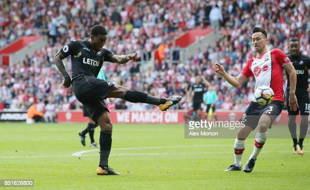 Leroy Fer of Swansea City during the Premier League match between Southampton and Swansea City at St Mary's Stadium on August 12 2017 in Southampton...