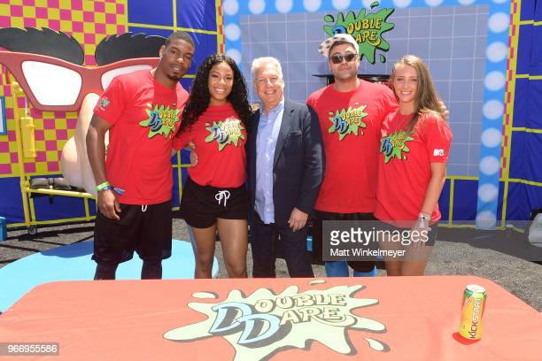 Leroy Garrett Kam Williams Marc Summers Jenna Compono and Chris 'CT' Tamburello attend Double Dare presented by Mtn Dew Kickstart at Comedy Central...