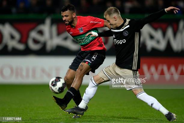 Leroy Labylle of NEC Nijmegen, Vaclav Cerny of Ajax U23 during the Dutch Keuken Kampioen Divisie match between NEC Nijmegen v Ajax U23 at the Goffert...